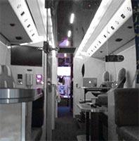L'intérieur d'un bus