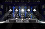 Un prototype de la scène et des lumières