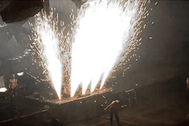 Explosion d'étincelles