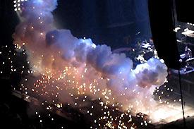 Rideau d'explosions