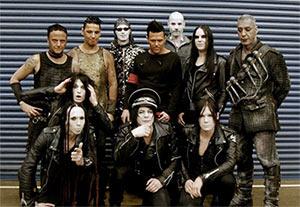 Rammstein avec Deathstars avant le show