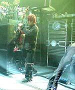 Les techniciens sur la scène