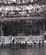 Le montage de la scène