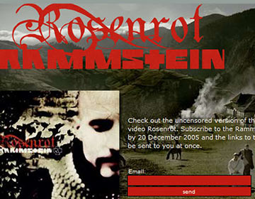 Single Rosenrot e-card
