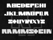 Rammstein font