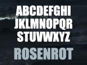 Rosenrot font