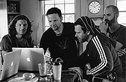Christoph, Paul, Richard et Oliver au Sonoma Mountain Studio en Californie