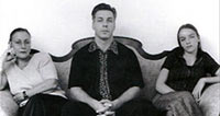 Till, avec sa mère et sa fille Nele