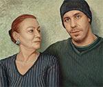 Till et sa mère Gitta ; Peinture de Manfred W. Jürgens