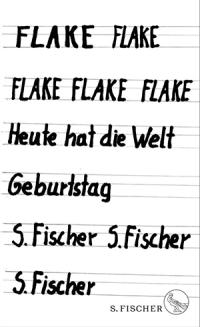 """Flake's new book """"Heute hat die Welt Geburtstag"""""""