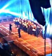 A choir opened for Rammstein in Riga!