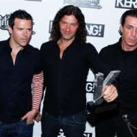 Richard, Christoph et Till aux Kerrang! Awards 2010