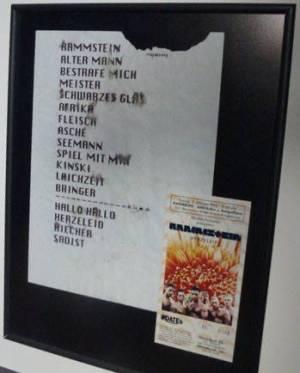 La setlist du 11 octobre 1996