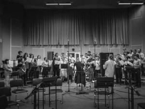 Recordings of choirs and orchestral parts in Minsk in September 2018