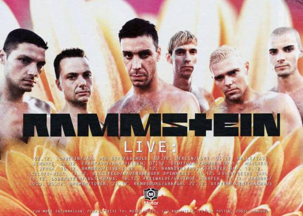 Promotional poster of the Herzeleid tour
