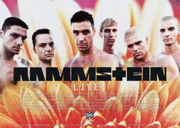 Affiche promotionnelle de la tournée Herzeleid