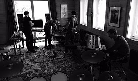 Rammstein en studio en Septembre 2015